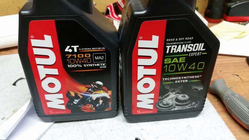 1st oil change is Trans synthetic or not - Beta Motorcycles